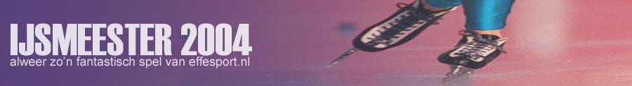 IJsmeester 2004, het leuke schaatsspel van effesport.nl