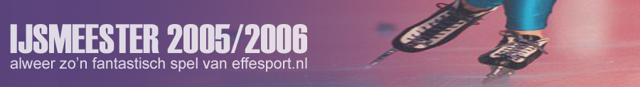 IJsmeester 2005, het leuke schaatsspel van effesport.nl