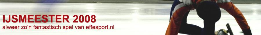 IJsmeester 2008, het leuke schaatsspel van effesport.nl