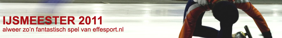 IJsmeester 2011, het gratis schaatsspel van effesport.nl